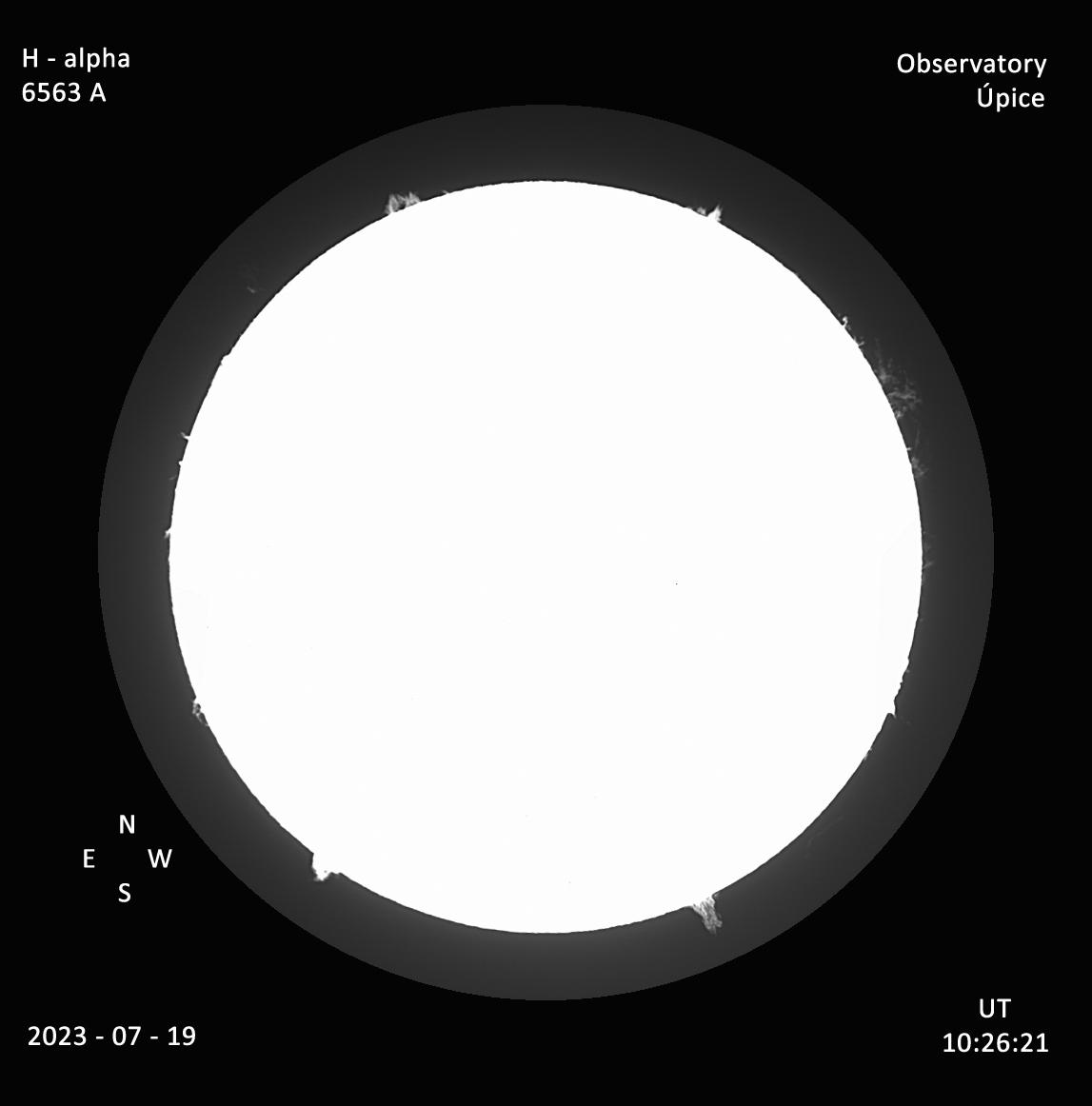 Protuberance celý disk - Úpice
